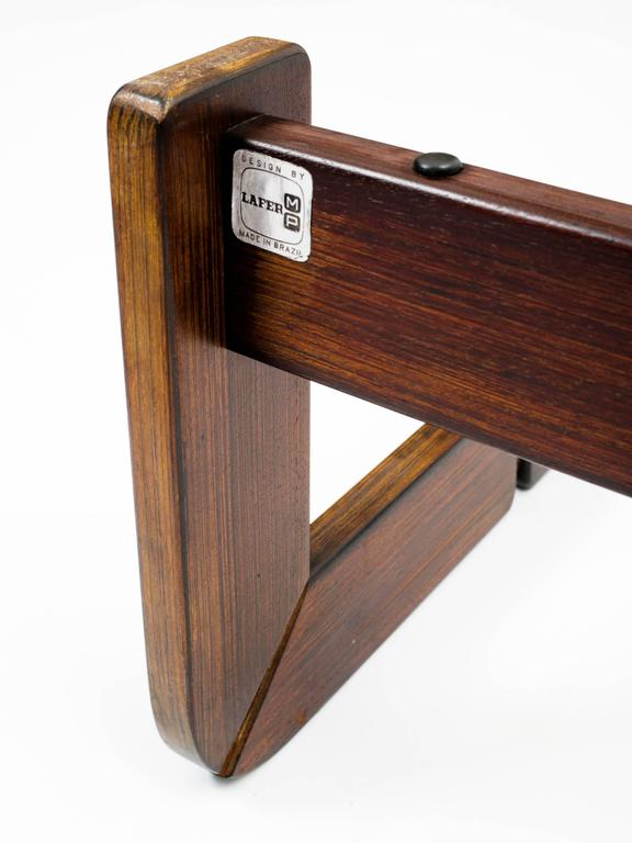 Brazilian Rosewood and Smoke Glass End Tables For Sale 4