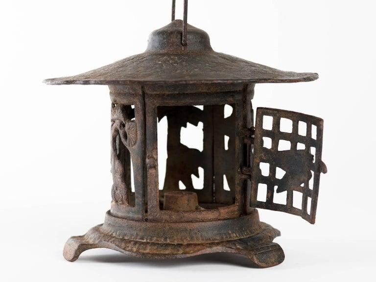 Japanese Iron Garden Lantern At 1stdibs