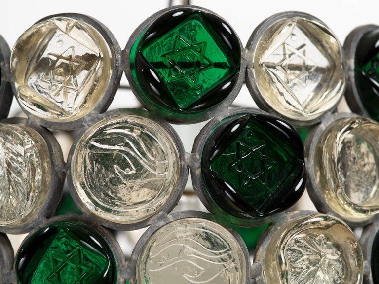 Circular Glass Disc Sculpture Chandelier For Sale 1
