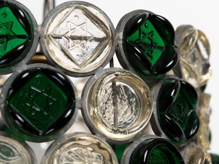 Circular Glass Disc Sculpture Chandelier For Sale 2