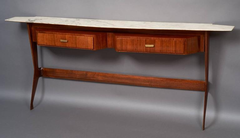 Amazing Sculptural Console in the Style of Ico Parisi, Italy 1950s 2