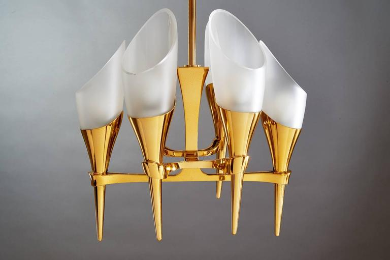 Mid-20th Century Elegant Max Ingrand Chandelier for Fontana Arte, circa 1960 For Sale