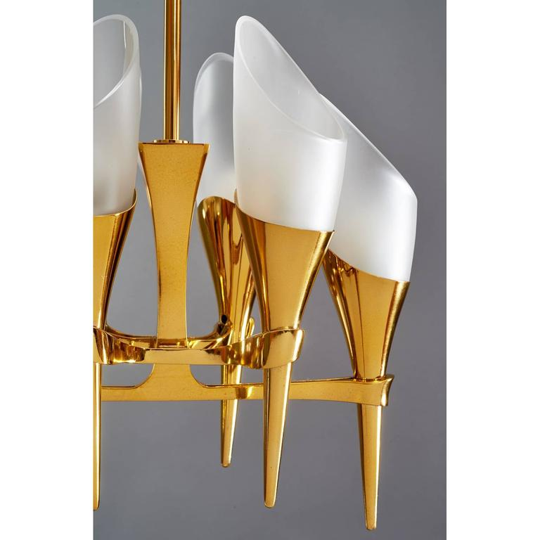 Italian Elegant Max Ingrand Chandelier for Fontana Arte, circa 1960 For Sale