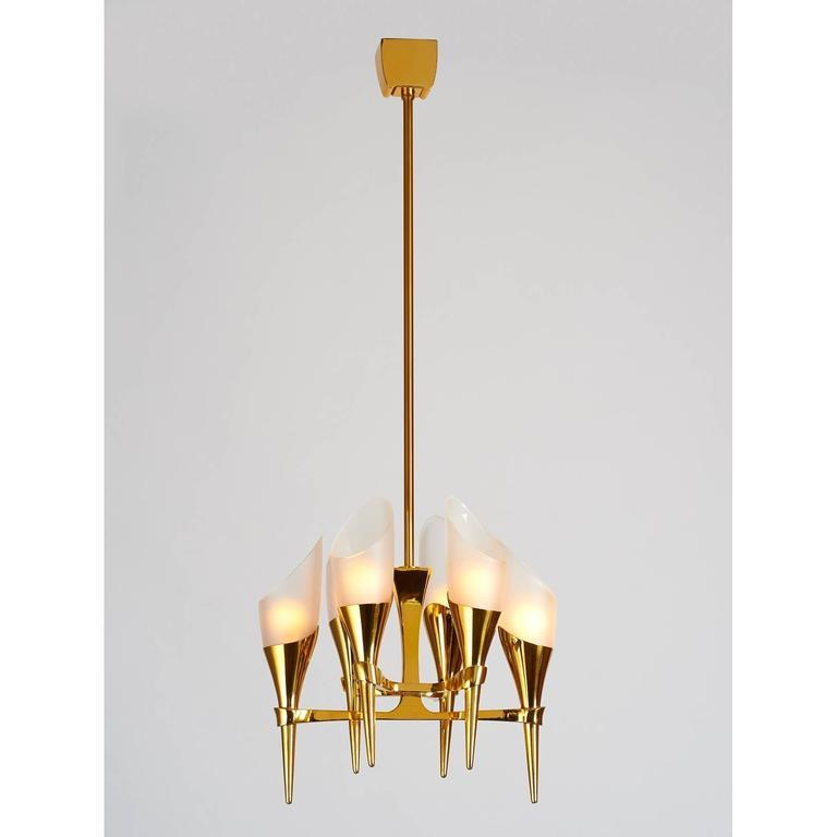 Mid-Century Modern Elegant Max Ingrand Chandelier for Fontana Arte, circa 1960 For Sale