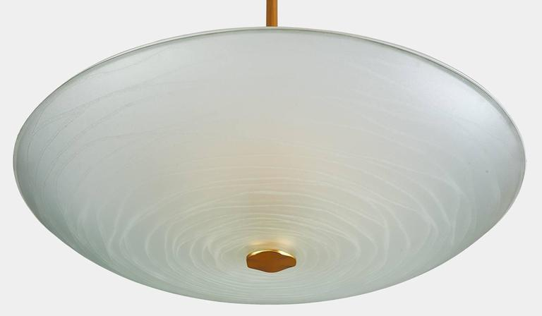 Exceptional Pietro Chiesa Glass Chandelier for Fontana Arte In Excellent Condition For Sale In New York, NY
