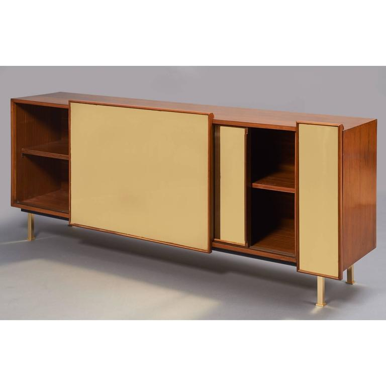 Architectural Asymmetrical Cabinet, France, 1970s In Good Condition For Sale In New York, NY