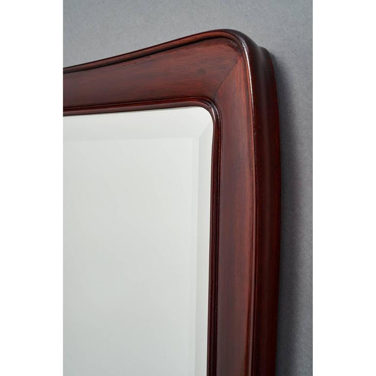 Italian 1930s Carved Mahogany Mirror In Excellent Condition For Sale In New York, NY