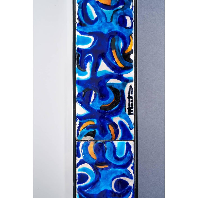 Enameled Mirror by Bruno Martinazzi, 1970s In Excellent Condition For Sale In New York, NY