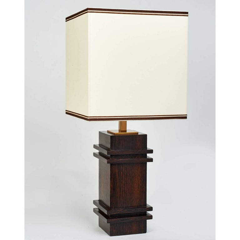 Palmwood Table Lamp in the Manner of Jacques Adnet, 1950s 2