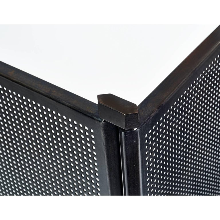 Mid-Century Modern Fireplace Screen by Afra & Tobia Scarpa, Italy, 1970s For Sale