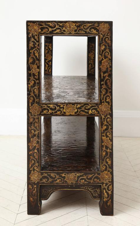 Rare 18th Century Chinese Gilt-Decorated Lacquer Bookshelf 5