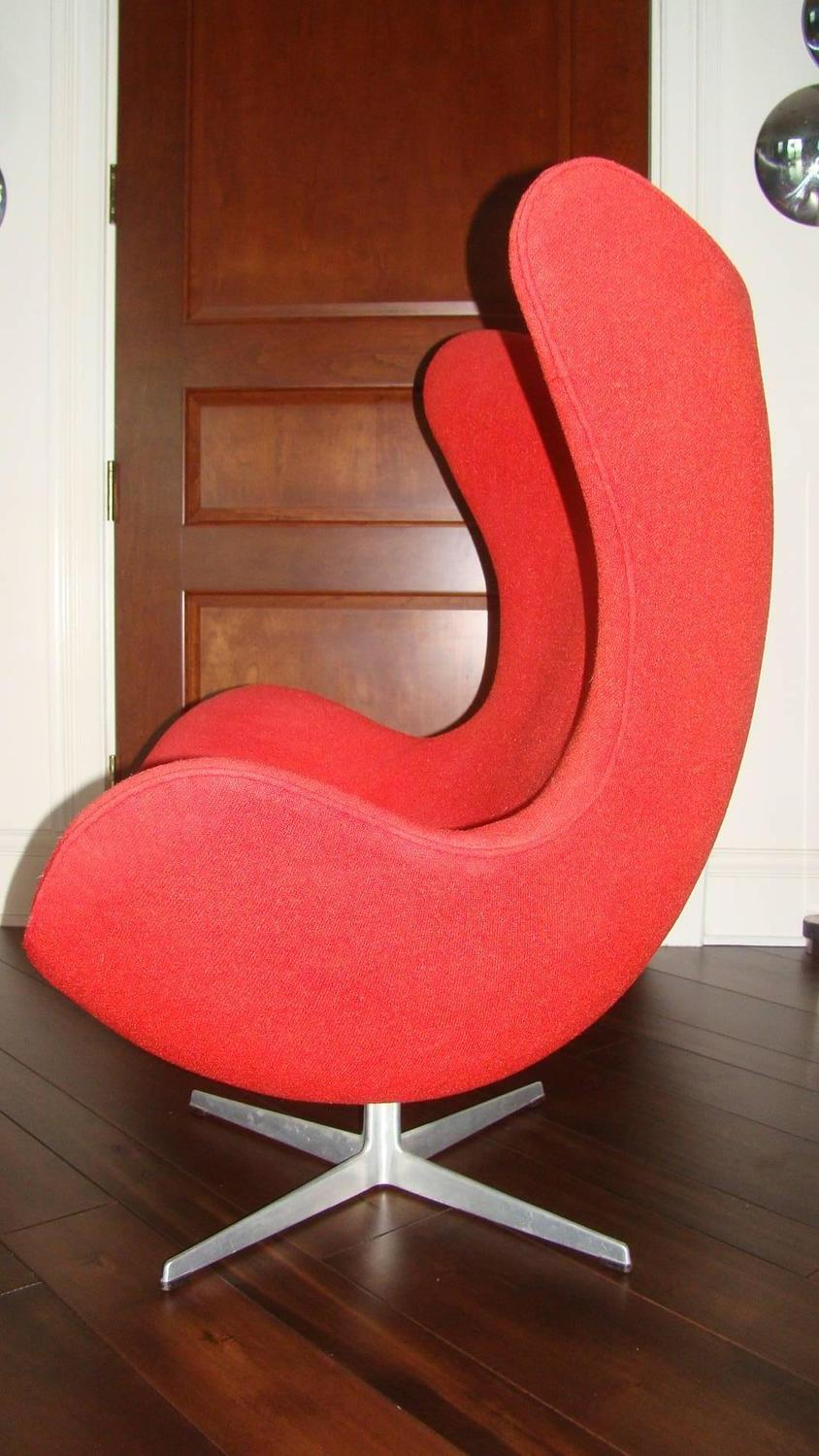 Early Arne Jacobsen Fritz Hansen Egg Chair For Sale At 1stdibs