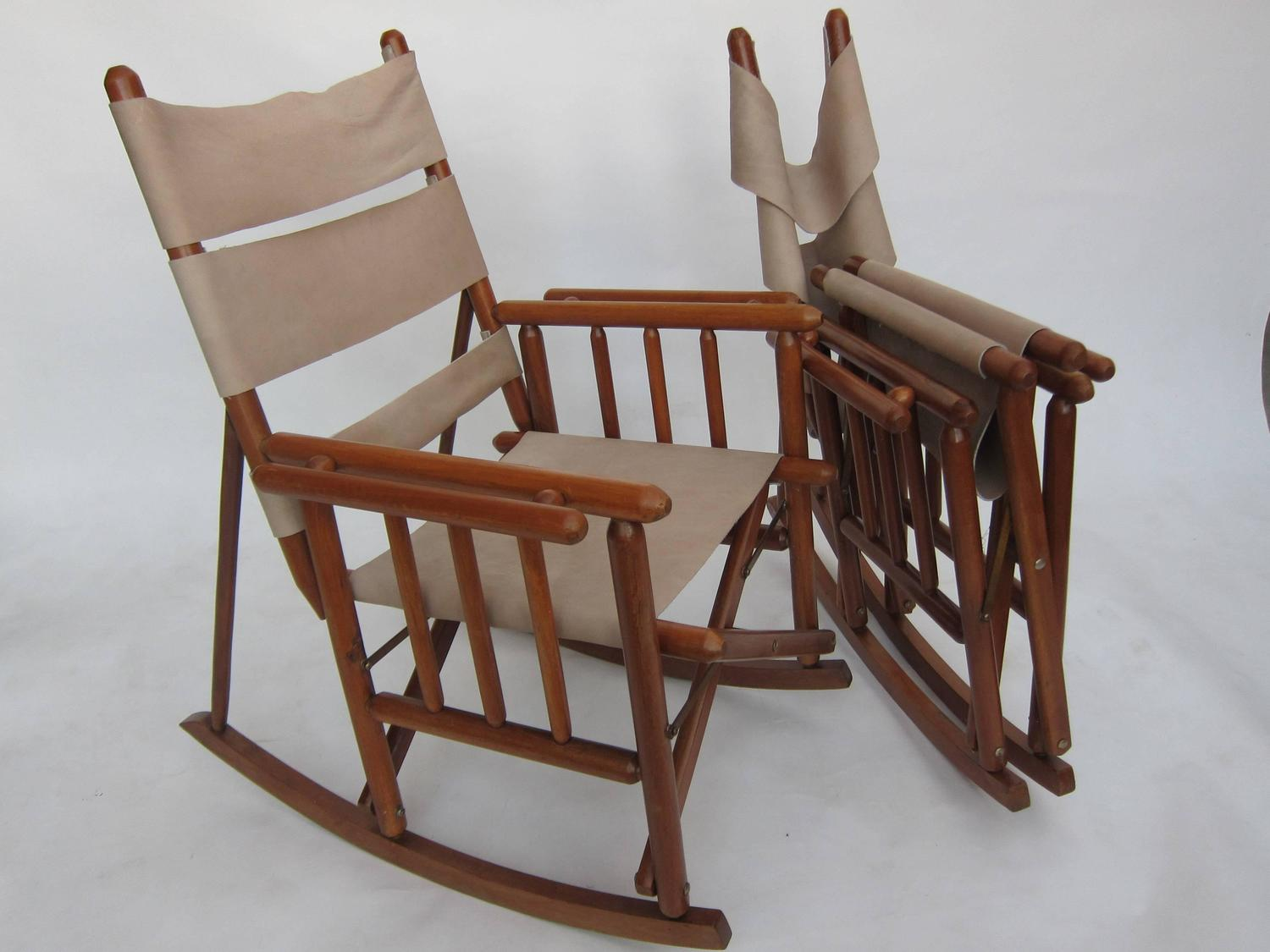 Pair Costa Rican Folding Rockers For Sale at 1stdibs