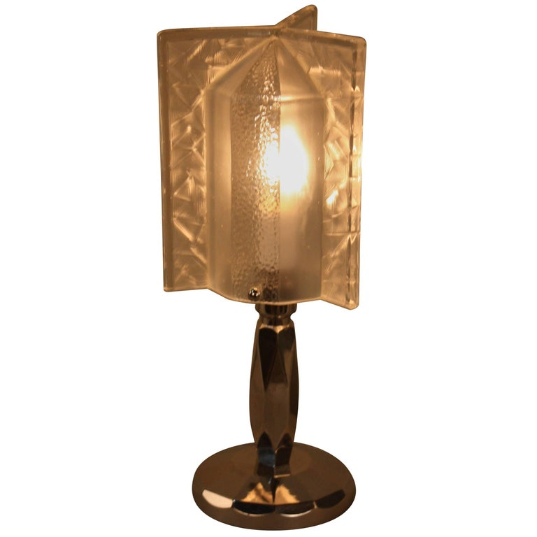 French 1930s Rocket Shape Art Deco Table Lamp