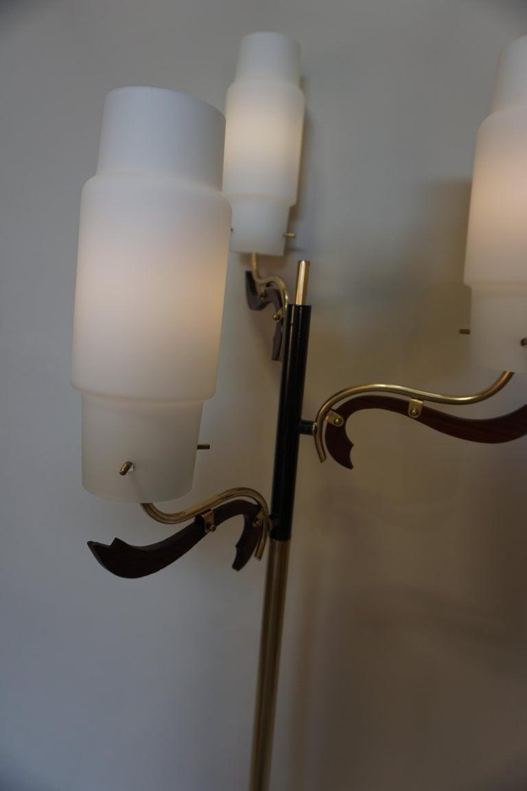 Bronze Italian 1960s Stilnovo Style Floor Lamp For Sale
