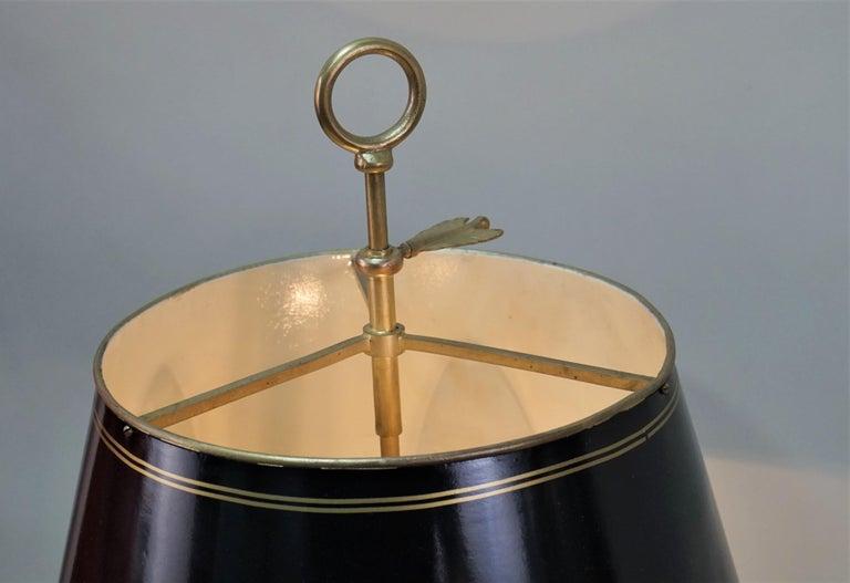 French 1930s Bronze Bouillotte Desk Lamp For Sale 4