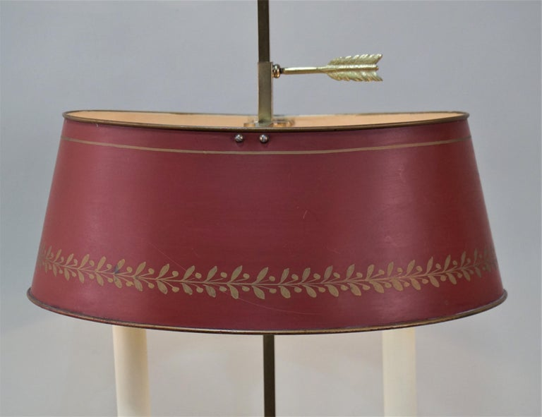 Double arm bronze table or desk lamp from 1920s France.