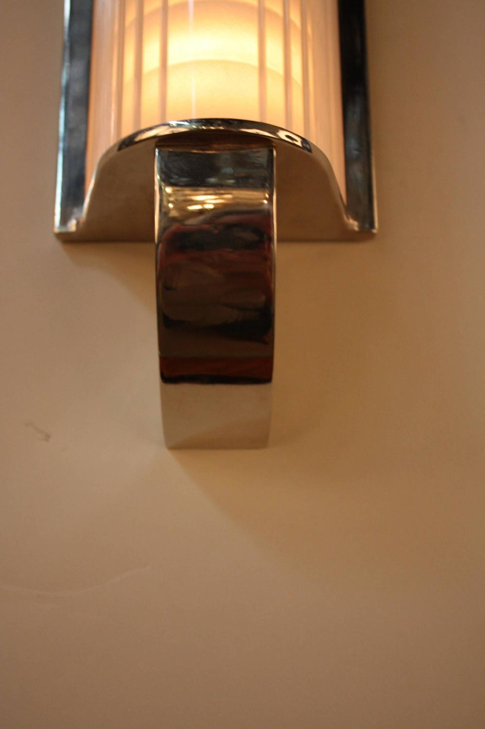 Wall Sconces Deco : Pair of French Art Deco Wall Sconces at 1stdibs