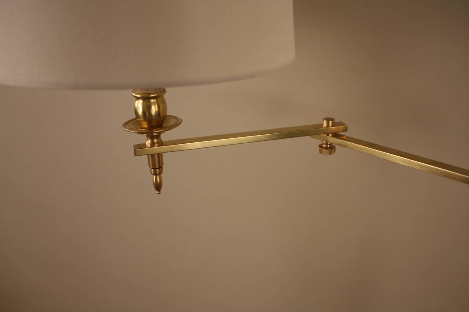 French Bronze Swing Arm Adjustable Height Floor Lamp at 1stdibs