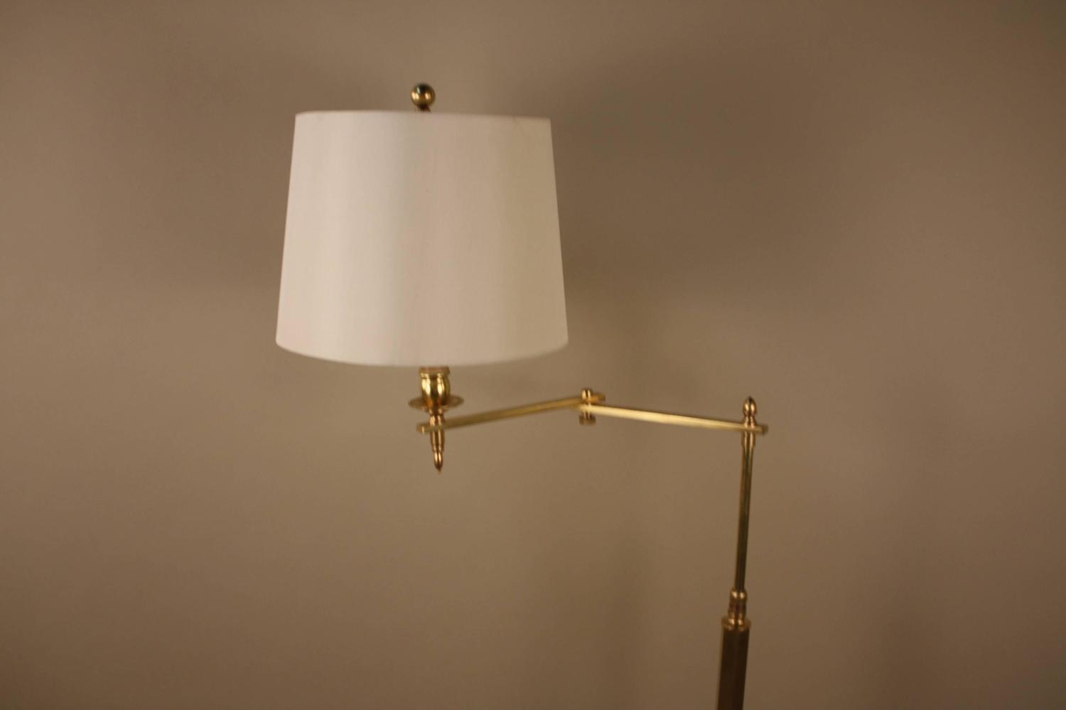 Adjustable Height Wall Lamps : French Bronze Swing Arm Adjustable Height Floor Lamp at 1stdibs
