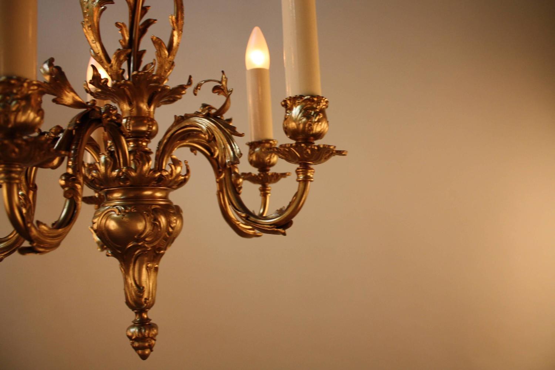 French bronze art nouveau chandelier for sale at 1stdibs for Chandelier art nouveau
