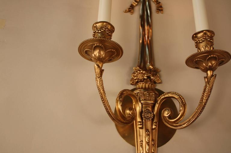 Elegant French Bronze Wall Sconces At 1stdibs