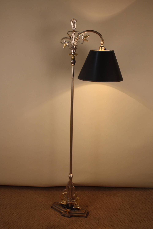 American 1930s Art Deco Bridge Floor Lamp At 1stdibs