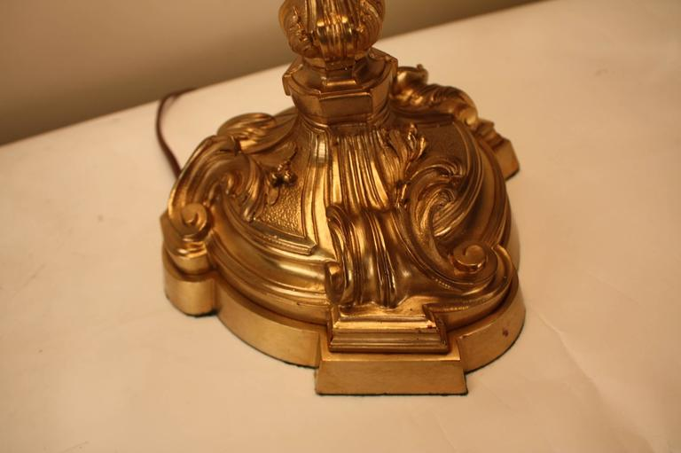 French Art Nouveau Bronze Table Lamp For Sale 3