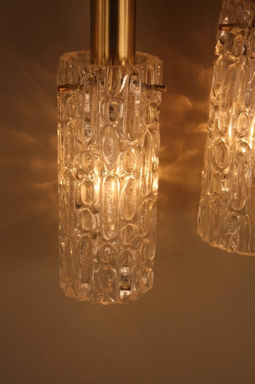 Contemporary Wall Sconces Glass : Pair of 1970s Modern Ice Glass Wall Sconces at 1stdibs