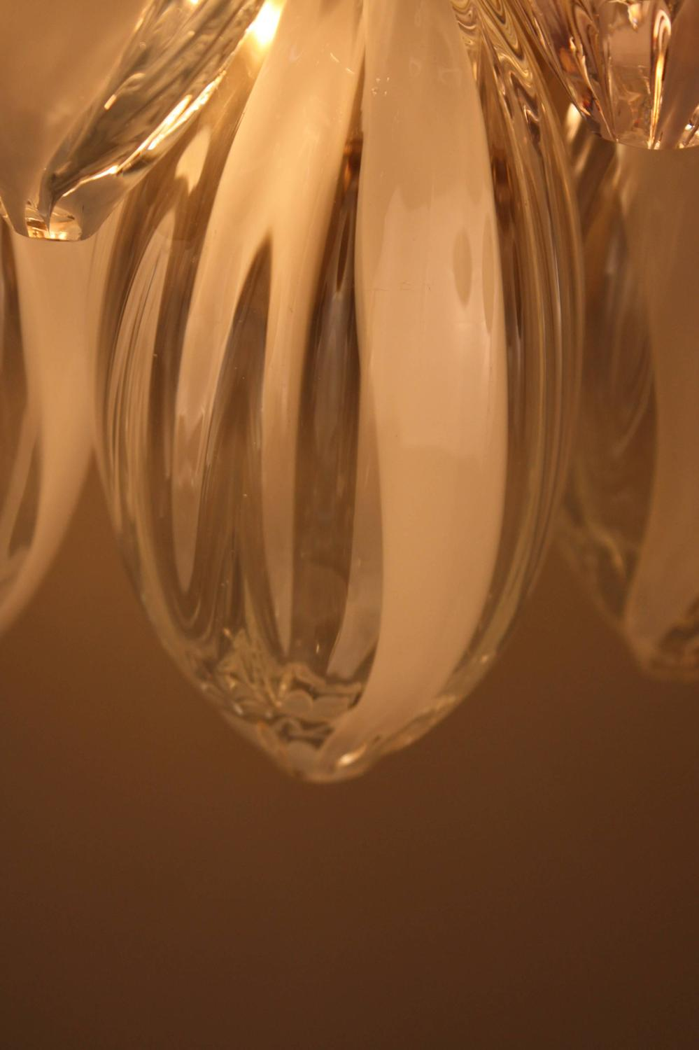 Pair of Italian Large Tear Drop Blown Glass Wall Sconces at 1stdibs