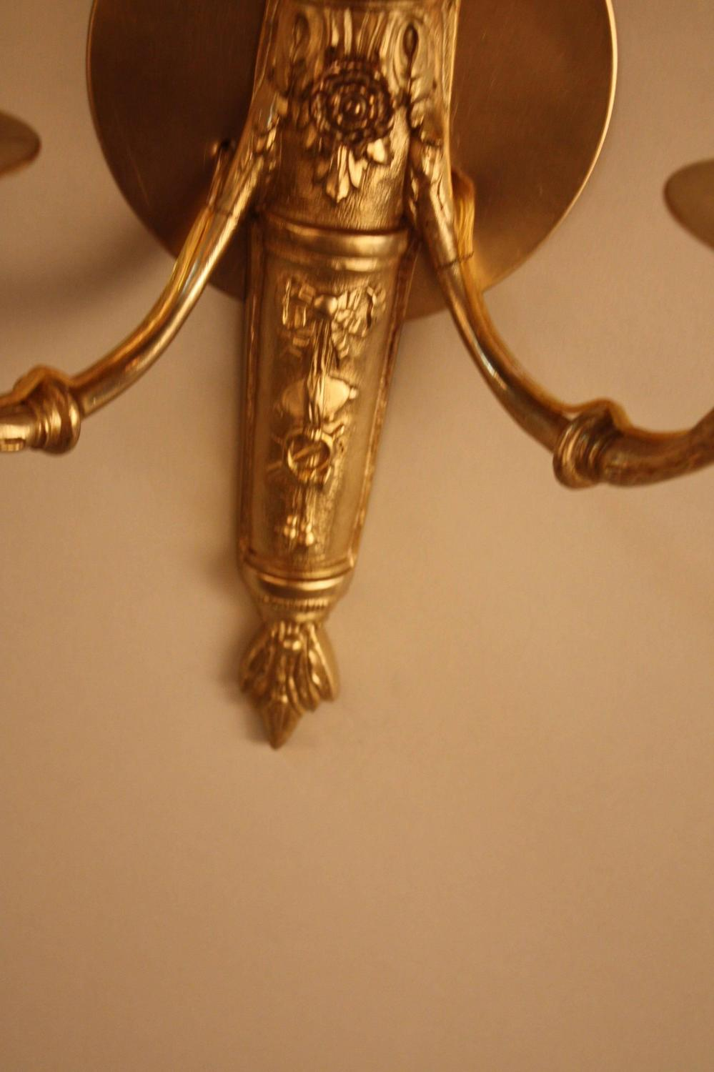 Elegant Pair Of French Bronze Wall Sconces For Sale At 1stdibs