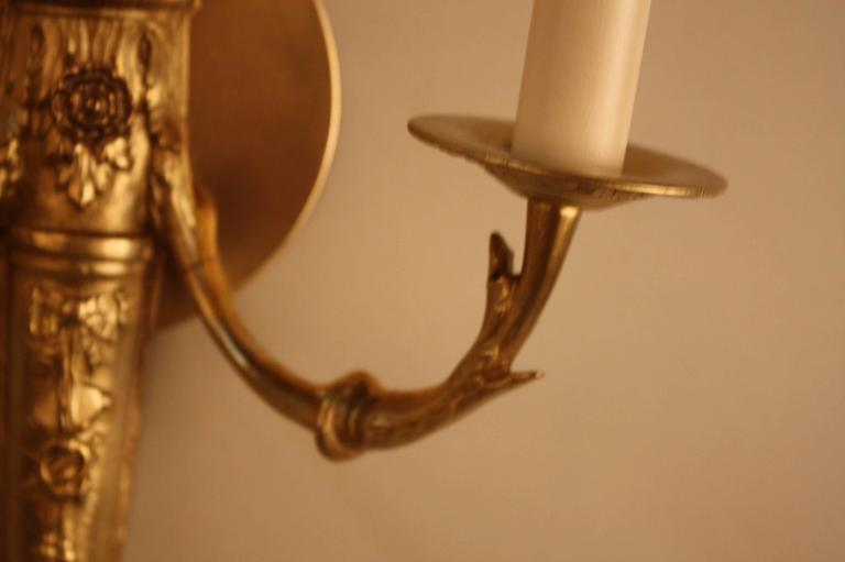 Wall Sconces Elegant : Elegant Pair of French Bronze Wall Sconces For Sale at 1stdibs