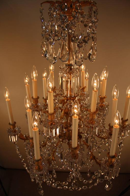 19th Century French Crystal and Bronze Doré Chandelier by Baccarat  9