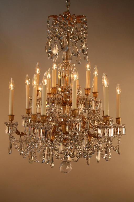 19th Century French Crystal and Bronze Doré Chandelier by Baccarat  10