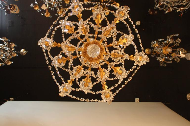 19th Century French Crystal and Bronze Doré Chandelier by Baccarat  6