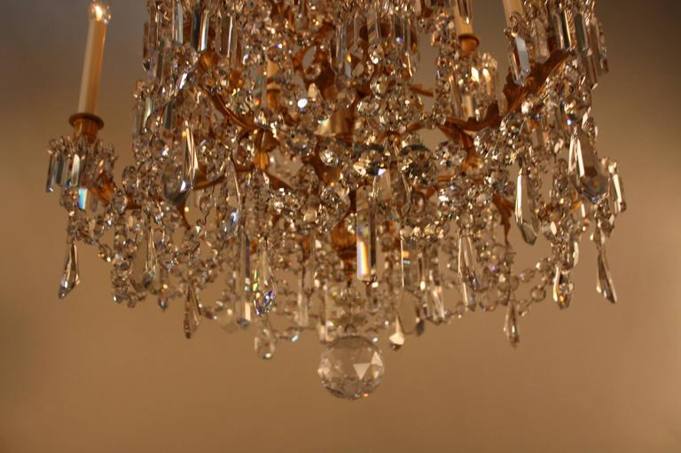 19th Century French Crystal and Bronze Doré Chandelier by Baccarat  7