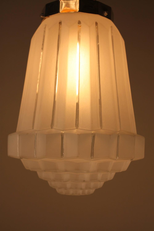 French 1930s Art Deco Pendant Light At 1stdibs