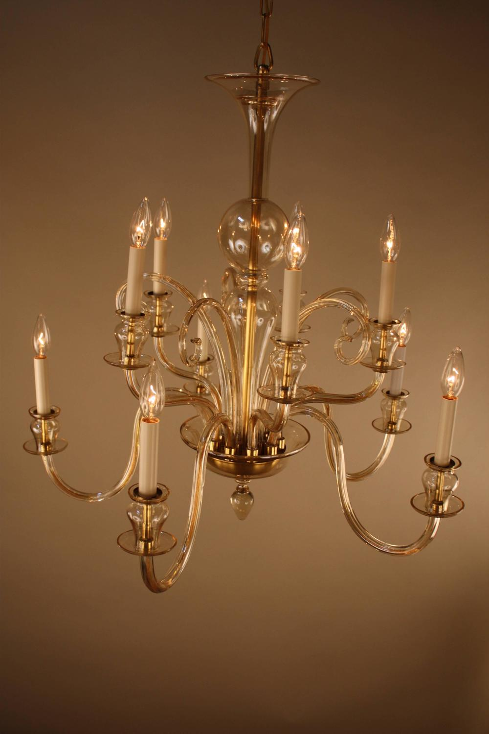 1970s modern murano glass chandelier at 1stdibs. Black Bedroom Furniture Sets. Home Design Ideas