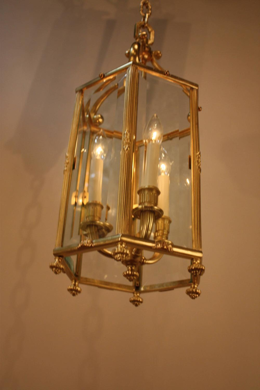 French Bronze Lantern By Atelier Petitot For Sale At 1stdibs
