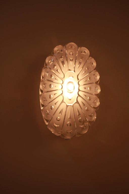 Cut Glass Wall Lights : Pair of 1970s Cut Glass Wall Sconces at 1stdibs