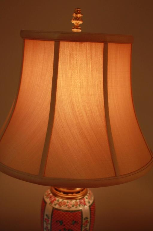 French Porcelain and Doré Bronze Table Lamp 8