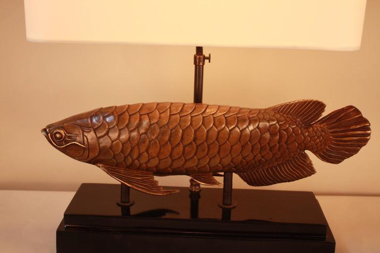 Fish bronze table lamp at 1stdibs for L fish furniture