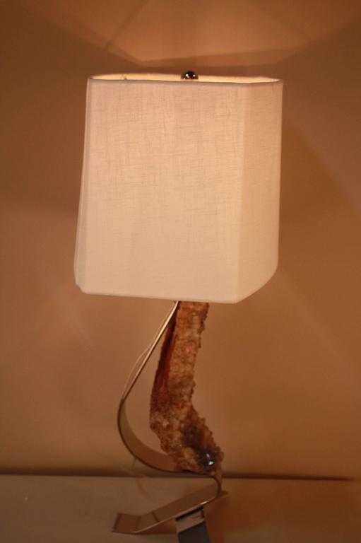 Modern Rock Crystals Table Lamp For Sale