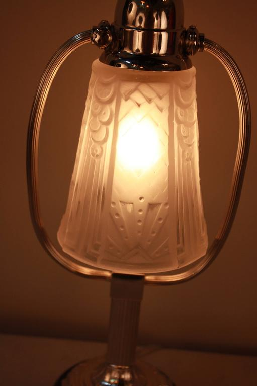Stunning French Art Deco Table Lamp by Muller Freres 2