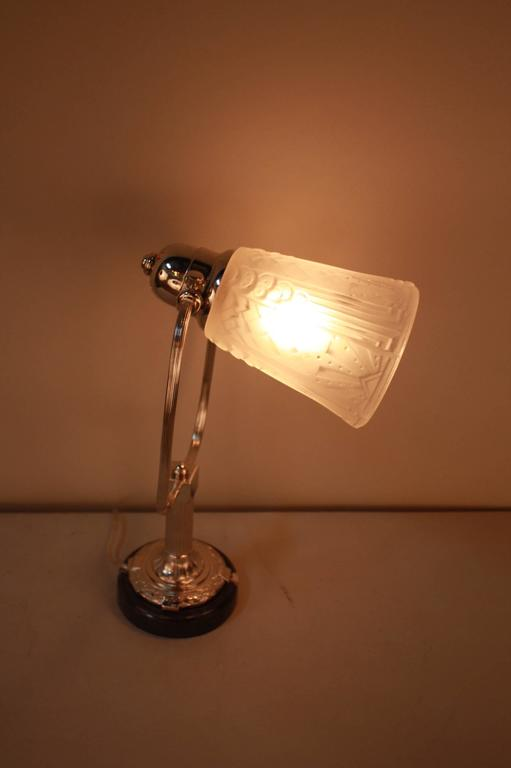 Stunning French Art Deco Table Lamp by Muller Freres 6