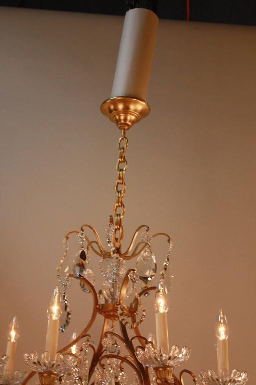 French Crystal Chandelier By Baccarat At 1stdibs