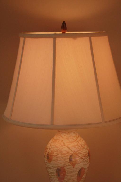 Art Nouveau American Art Glass Table Lamp by Quezal For Sale
