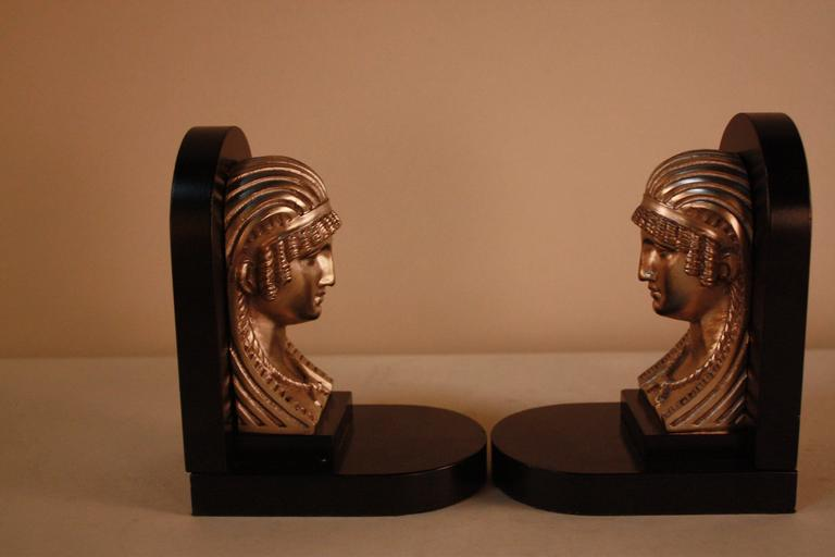 French Egyptian Revival Art Deco Bookends For Sale