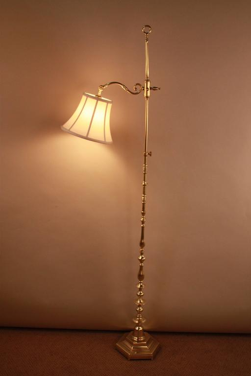 Wall Lamp Height From Floor : Spanish Bronze Adjustable Height Floor Lamp at 1stdibs