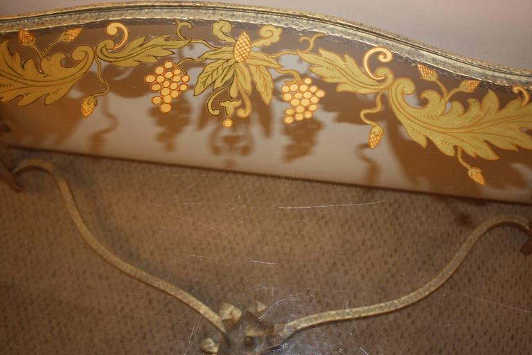 Italian Gold Leaf Glass Top Coffee Table In Good Condition For Sale In Fairfax, VA
